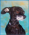Cha Cha the Chihuahua, painting by Jack Knight
