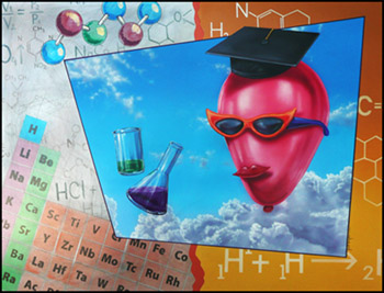 Chemistry, a Painting by Jack Knight