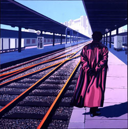 Train Station, painting by Jack Knight